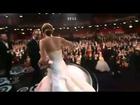 Oscar 2013 Best Actress JENNIFER LAWRENCE Falls On Stage: