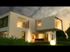 Maya 3d + Mental Ray animated exterior modern villa render test