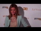 Sexy Amber Lancaster arrives at OK! Magazine 2012 pre Grammy party