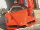Exotic car collector shows Ferrari Enzo and Lamborghini revv