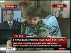 Didim'de Pertes hastası çocuğa evde eğitim