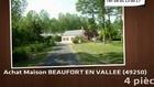 Vente - maison - BEAUFORT EN VALLEE (49250)  - 30 000m²