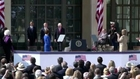 Obama, ex-presidents honor Bush at library opening
